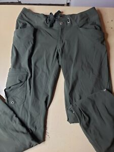 COLUMBIA Omni-Shade  Roll Up  Cargo Pants Womens sz 10 Olive Green