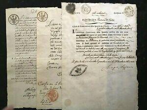 ANTIQUE Original MANUSCRIPT ITALY-MODENA-1808-Handwritten/Watermarkes 3pg#813