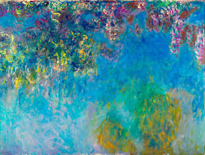 Wisteria by Claude Monet A1+ High Quality Art Print