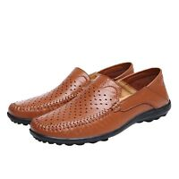 Comfy Oxford Mens Real Leather Driving Slip On Breathing Lace Up Shoes UK 5-13