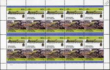 1929 LNER 2750 PAPYRUS Class A3 4-6-2 (Newcastle Station) Train 20-Stamp Sheet