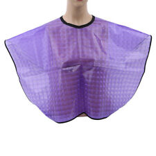 Waterproof Hair Cutting Hairdressing Perming Barber Salon Gowns Purple Cape 6A