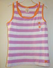 NWT ~ Gymboree Bright and Beachy Purple / White / Orange Stripe Top Girl's 6