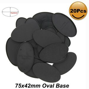 MB875 20pcs Oval Bases 75X42mm Oval Plastic Bases For Miniature Wargames