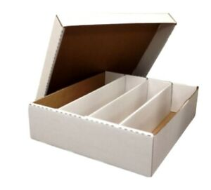 BCW 3200ct Corrugated Cardboard Baseball Card Super Monster 4  Row Storage Box