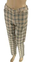 Authentic BURBERRY BLUE LABEL Vintage Nova Check Pants #38 Beige Rank AB
