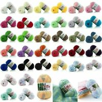 100% Bamboo Cotton Warm Soft Natural Knitting Crochet Knitwear Wool Yarn 50g New
