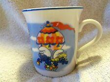 VINTAGE PAPA SMURF ~ GARGAMEL ~PORCELAIN MUG or CUP 1982  JAPAN  WALLACE BERRIE
