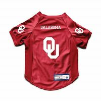 NEW OKLAHOMA SOONERS DOG CAT DELUXE STRETCH JERSEY
