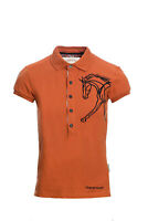 Horseware Ladies FLAMBORO Short Sleeve Cotton Polo Top Orange XXS-XXL
