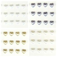 Pearl Heart Sticker Gems Self Adhesive Stick On 6mm Wedding Card Making Craft