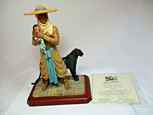 Thomas Blackshear's Ebony Visions THE PROTECTOR Figurine w/ COA Item 37007