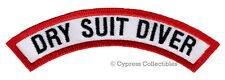 DRY SUIT DIVER CHEVRON - SCUBA DIVING iron-on DIVE PATCH embroidered applique