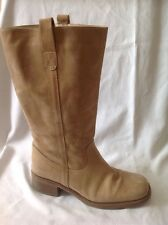 Dolcis Brown Mid Calf Leather Boots Size 39