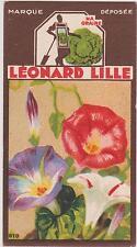 BON POINT PUBLICITAIRE LEONARD LILLE/ LYON GRAINES POTAGERES FLEURS/IPOMEE