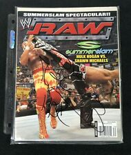 SHAWN MICHAELS SIGNED WWE RAW MAGAZINE AUGUST 2005