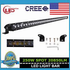 "51"" 250W CREE Slim Single Row Led Work Light Bar Spot Boat Jeep Truck 4D Optical"