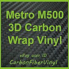 Sample Metro M500 3D Carbon Fiber Vinyl Wrap Sheet 4x8