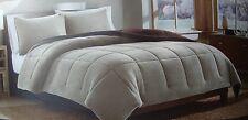 Eddie Bauer Premium Fleece Twin Comforter Set 2pc Oyster Beige