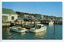 South Dartmouth MA Mass Padanarum waterfront, old cars, boat Jean Adair, 1968
