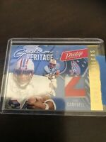 Panini Prestoge Earl Campbell Jersey Relic SSP Nice Oilers /50