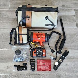 NIKON NIKONOS-V 35mm UNDERWATER CAMERA WITH SB-103 STROBE W/ NIKONOS-V BAG