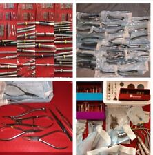 12lb Mix Brand Lot Dental Handpiece Tools w Hu-Friedy Instruments Forceps + More