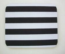Computer Mouse PAD - Mat - MousePad - Rectangle - black white stripes