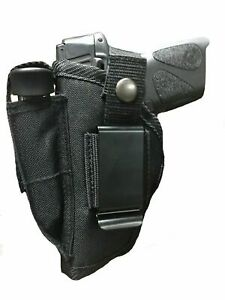 Nylon Pistol Hip Gun Holster with Extra Mag Pouch for RUGER EC9s