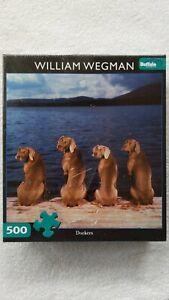 "Buffalo Games William Wegman ""Dockers""  500 Piece Jigsaw Puzzle Factory Sealed"