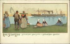 Red Star Line Steamship Promo Dutch Natives B-1 Series Used c1910 Postcard