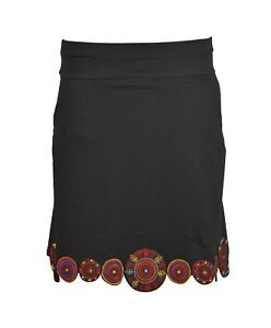 Ladies Skirt With Embroidery and print with pocket.