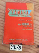 Yamaha LB80IIA Chappy 592 1975 80 LB catalogue pièces détachées parts list moto