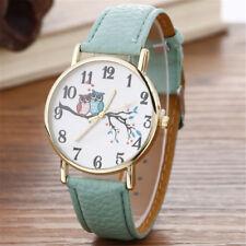 2018 Cute Owl Pattern Neutral Fashion Leather Quartz Wrist Watch