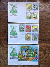 Set Of Three Disney 1983 Turks & Caicos Islands Christmas First Day Covers