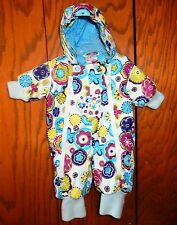 Hanna Andersson JOURNEY'S END Puffy Snow Suit Winter Wear Girls 60 6-9 Months