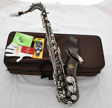 Professional TaiShan 7000 Model Tenor Saxophone Black Nickel Siver Sax With CASE