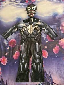 Spiderman Venom Kids Boys Superhero Jumpsuit Fancy Dress Hero Costume RARE
