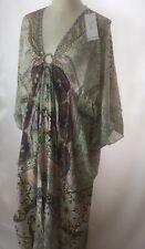 Camilla Franks Mama Bakshi Split Sleeve Kaftan Dress Silk Authentic Crystal