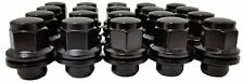 20 Pc FITS TOYOTA BLACK SHORT FACTORY OEM TYPE SOLID LUG NUTS  # AP-5307BK