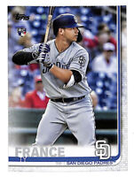 2019 Topps Update US129 Ty France rookie RC card Padres Mariners