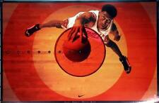 "Scottie Pippen ""BULLS EYE"" Nike Shoes NBA Chicago Poster Very Rare 1996 NEW"