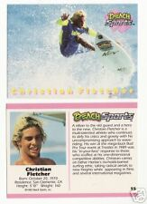 1992 BEACH SPORTS CHRISTIAN FLETCHER SURFING CARD #55