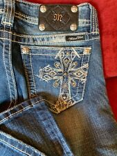 37b4ad8d69a Miss Me Women's Embellished Boot cut Jeans Size 27