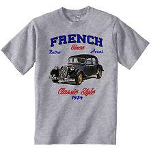 Vintage french voiture Citroen traction avant 1-Nouveau T-shirt en coton