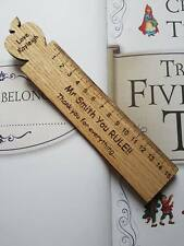 PERSONALISED TEACHER GIFT WOODEN BOOKMARK END OF TERM SCHOOL LEAVING PRESENT