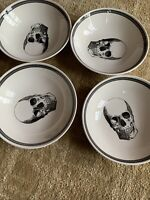 ROYAL STAFFORD  SKULL *SOUP CEREAL BOWL* GOTHIC  New Set of 4