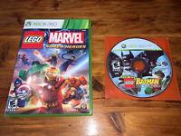 Lot Of 2 Video Games Xbox 360 Lego Marvel Super Heroes & Lego Batman