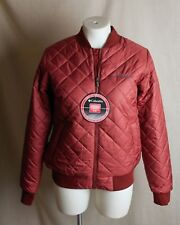 Women's Columbia Hawlings Hill Bomber Jacket Thermal Coil Dark Red Size S