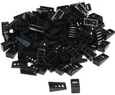Lego Lot of 100 New Black Slope 18 2 x 1 x 2/3 with 4 Slots Pieces